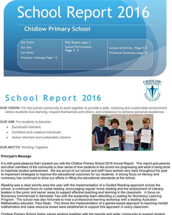 School Annual Report